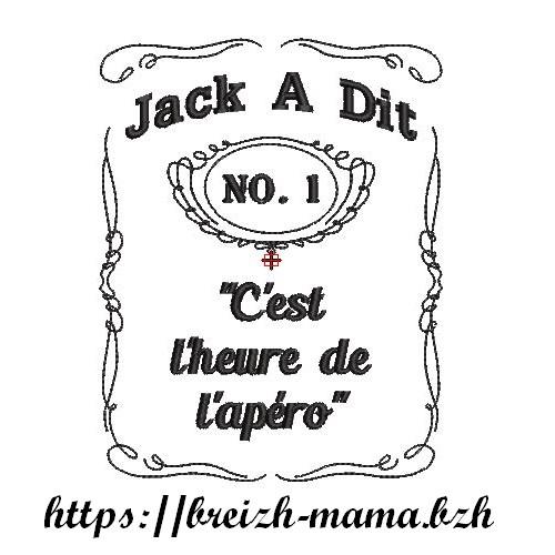 Motif Broderie Jack A dit Apéro