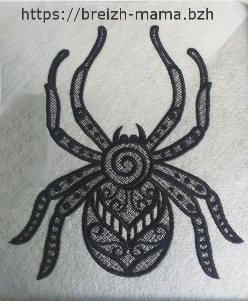 Motif broderie araignée FSL