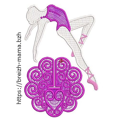 Motif broderie Danseuse FSL 3