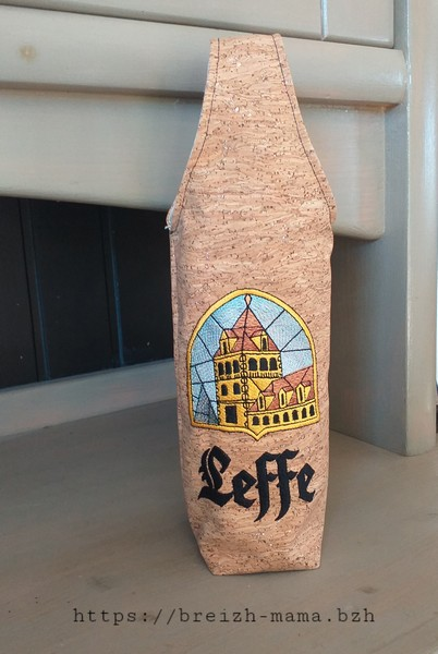 Sac bouteille brodé Leffe